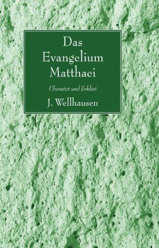Evangelium Matthaei: Bersetzt Und Erklart 9781606086773