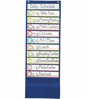 Deluxe Scheduling Pocket Chart 9781604188950