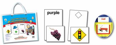 Double Smart Pocket Chart Colors and Shapes Cards 9781600223662