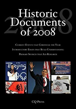 Historic Documents of 2008: Includes Cumulative Index, 2004-2008 9781604265538