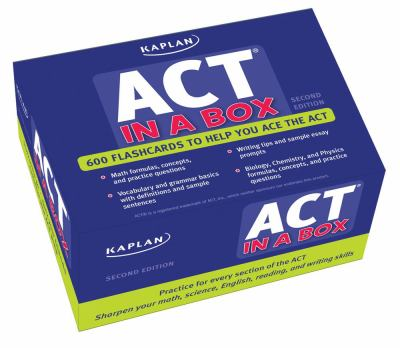 Kaplan ACT in a Box Flashcards 9781607144786