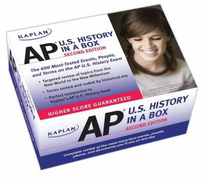 Kaplan AP U.S. History in a Box Flashcards 9781607145523