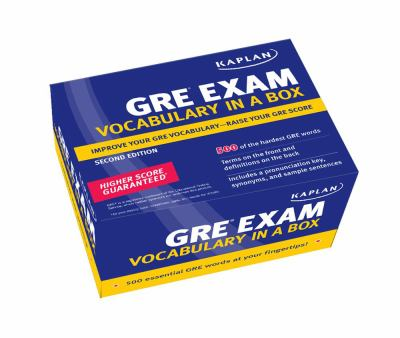 Kaplan GRE Exam Vocabulary in a Box 9781607140528