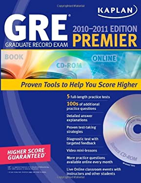 Kaplan GRE Graduate Record Exam Premier [With CDROM] 9781607142843