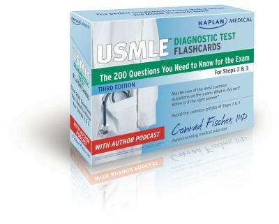 Kaplan Medical USMLE Diagnostic Test Flashcards: The 200 Diagnostic Test Questions You Need to Know for the Exam for Steps 2 & 3 9781609780371
