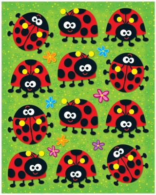 Ladybugs Shape Stickers 9781604189896