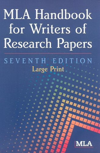 MLA Handbook for Writers of Research Papers 9781603290258