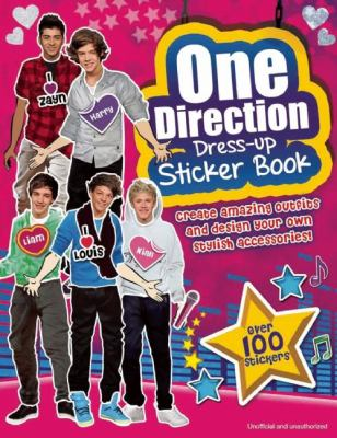 One Direction Dress-Up Sticker Book 9781607107132