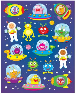 Out of This World Shape Stickers 9781604189902