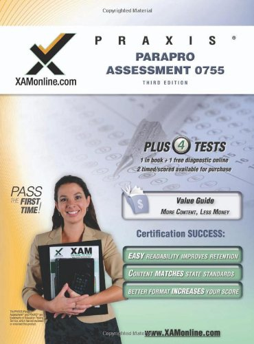 Praxis Parapro Assessment 0755 Teacher Certification Test Prep Study Guide 9781607870524