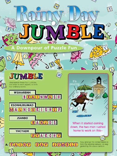 Rainy Day Jumble: A Downpour of Puzzle Fun 9781600783524