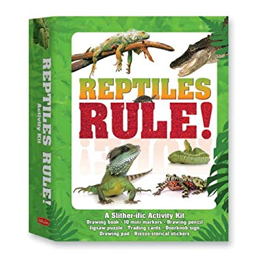Reptiles Rule!: A Slither-ific Activity Kit [With Hissss-Sterical Stickers and Trading Cards and Doorknob Sign and Drawing Pencil and Jigsaw Pu 9781600585654