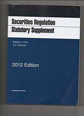 Securities Regulation Statutory Supplement 9781609301286