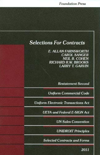 Selections for Contracts 9781609300791