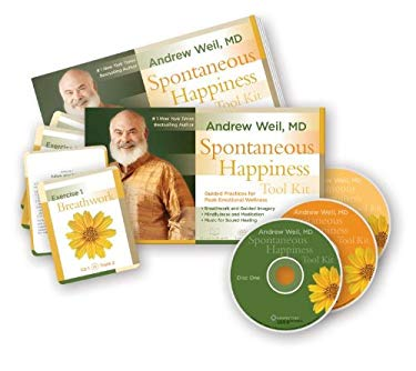 Spontaneous Happiness Tool Kit: Guided Practices for Peak Emotional Wellness [With 25 Practice Cards and Tube of Aromatherapy and Workbook and 2 CDs] 9781604077933