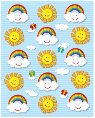 Suns & Rainbows Shape Stickers 9781604189988