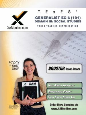 Texes Generalist EC-6 191 Social Studies Boost Edition 9781607871040