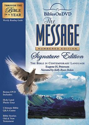 The Message: Numbered Edition Signature Edition: Bible on DVD in Contemporary Language 9781603620789