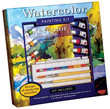 Watercolor Painting Kit [With Mixing Palette with Travel Lid and Sketching Pencil and 3 Paintbrushes and 8 Watercolor Paint 9781600581595