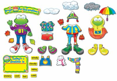 Weather Frog Bulletin Board Set [With Weather Word Cards and Articles of Clothing & Weather Accents and Weather Chart and Resource 9781600224195