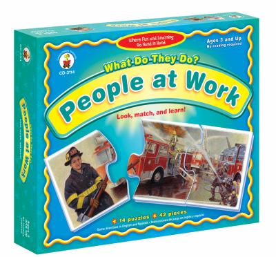 What Do They Do? People at Work: Look, Match, & Learn! 9781600225031