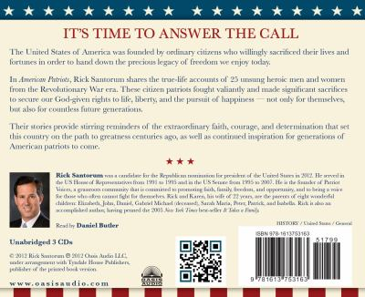 American Patriots: Answering the Call to Freedom 9781613753163