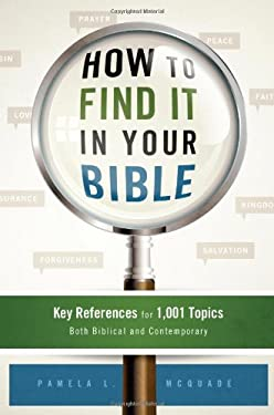 How to Find It in Your Bible: Key References for 1,001 Topics Both Biblical and Contemporary 9781616269166