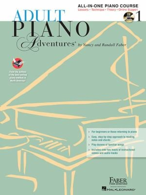Adult Piano Adventures All-In-One Lesson Book 1: A Comprehensive Piano Course [With 2 CDs] 9781616773014