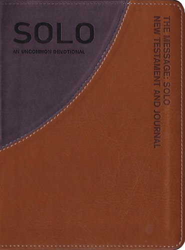 The Message Solo New Testament and Journal Tan/Gray-MS: An Uncommon Journal 9781617471704