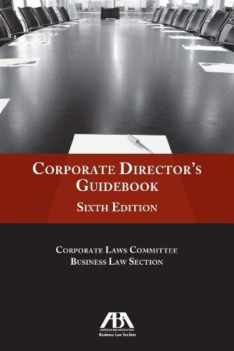 Corporate Director's Guidebook 9781616328740