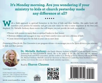 Dreaming of More for the Next Generation: Lifetime Faith Ignited by Family Ministry 9781613751749
