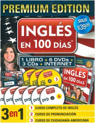 Ingles En 100 Dias [With 3 CDs and 6 DVDs and Paperback Book] 9781616059026