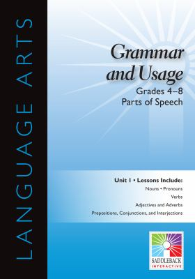 Parts of Speech, Grades 4-8 9781616519049