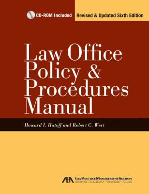 Law Office Policy and Procedures Manual 9781616320300