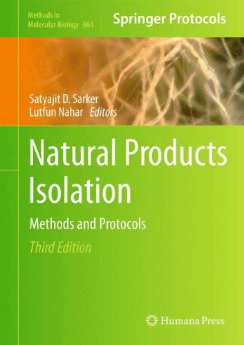 Natural Products Isolation: Methods and Protocols 9781617796234