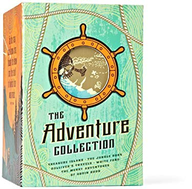 The Adventure Collection: Gulliver's Travels, White Fang, the Jungle Book, the Adventures of Robin Hood, Treasure Island 9781612184166
