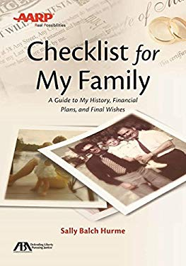 ABA/AARP Checklist for My Family: A Guide to My History, Financial Plans and Final Wishes