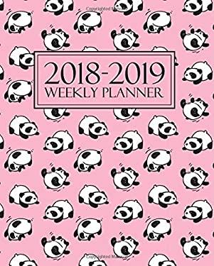 2018-2019 Weekly Planner: Cute Pudgy Panda on Pink