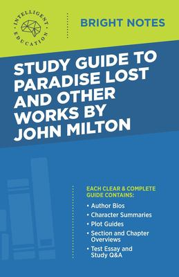 Study Guide to Paradise Lost and Other Works by John Milton
