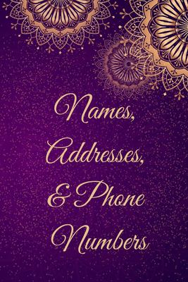 Names, Addresses, & Phone Numbers: Address Book for Men, Women With Alphabet Index (Small Tabbed Address Book).