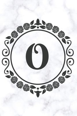 O: Sketchbook   Cute Personalized Floral Initial Monogram Drawing Book for Artists   Pretty Doodling Pad for Students for Girls & Women   Letter O - W