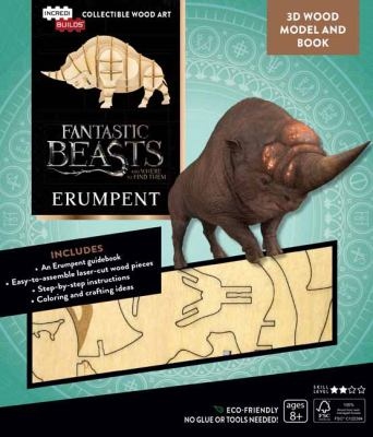 IncrediBuilds: Fantastic Beasts and Where to Find Them: Erumpent Book and 3D Wood Model