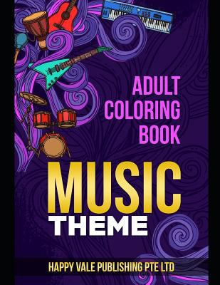 Adult Coloring Book: Music Theme