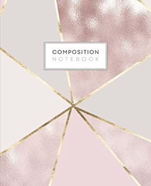 Composition Notebook: Rose Gold Girly College Ruled Blank Lined Cute Notebooks for Girls Teens Women School Writing Notes Journal (7.5 x 9.25 in) (Com