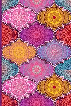 """Discreet Password Book: Never Forget A Password Again! 6"""" x 9"""" Colorful Abstract Mandala Design, Password Book With Tabbed Large Alphabet, Over 390 Re"""