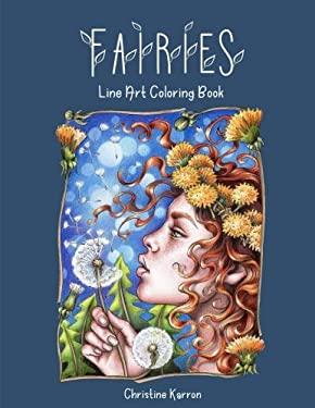 Fairies Line Art Coloring Book