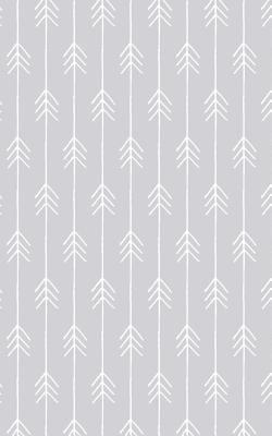 Pale Gray Chevron Arrows - Lined Notebook with Margins - 5x8: 101 Pages, 5 x 8, College Ruled, Journal, Soft Cover