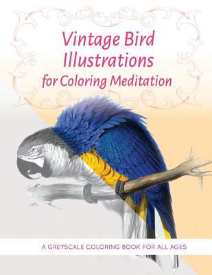 Vintage Bird Illustrations for Coloring Meditation: A Greyscale Coloring Book for All Ages (Vintage Coloring Books) (Volume 2)