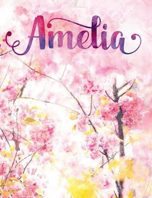 Amelia: Personalized Journal - A Pink Cherry Blossom Diary