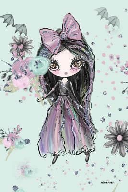"""Wayfarer (6"""" X 9"""" Aqua Teal): Goth Girl Dreaming Dot Grid Inspiration Journal, Notebook, Composition book, Dream Journal, Bullet Journal"""